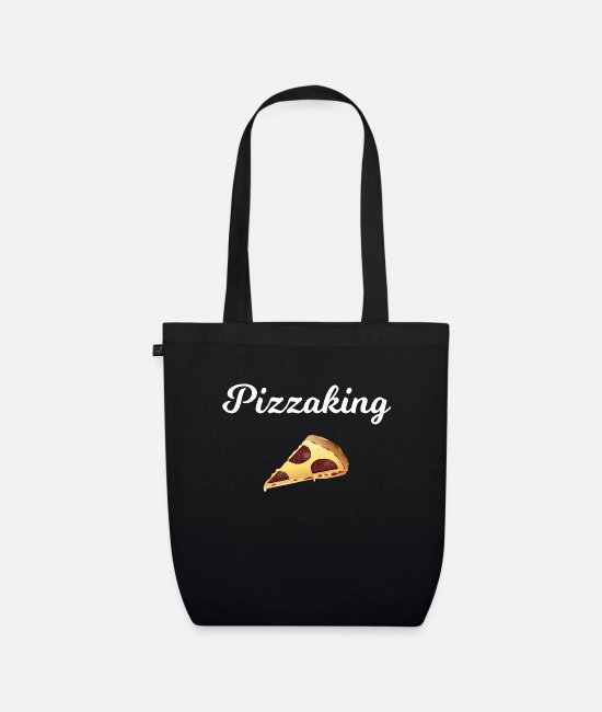Pizza Bags & Backpacks - Pizza - Pizza lover - Gift - Pizzaking - Organic Tote Bag black