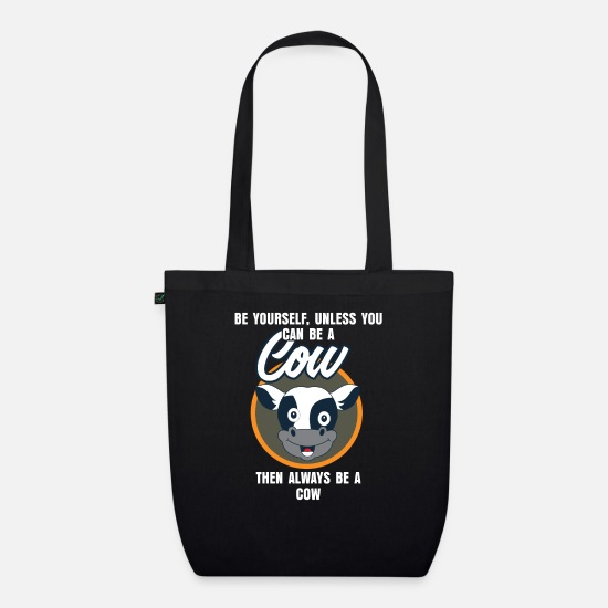Muh Bags & Backpacks - Cow Cattle Stall Farm Pasture Animal Gift - Organic Tote Bag black