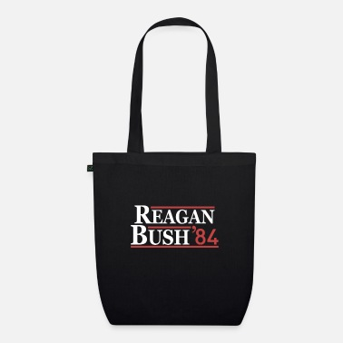 Best Vintage 80s Reagan Bush 84 Republican Political - Organic Tote Bag