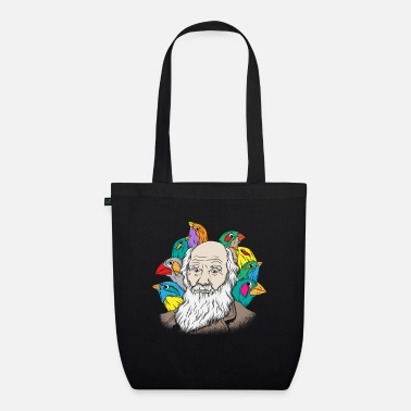 Evolution Charles Darwin Portrait Gift Evolution - Organic Tote Bag