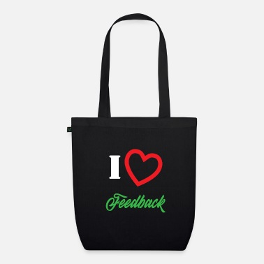 I Love Music &amp Funny Feedback Tshirt Designs I love Feedback - Organic Tote Bag
