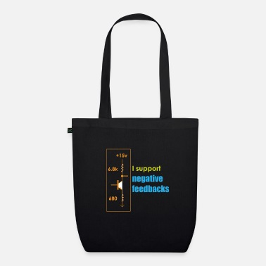 Funny Feedback Tshirt Designs I support Negative - Organic Tote Bag