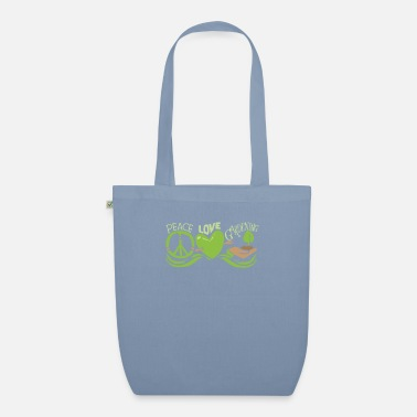 Root Crop Peace Love Gardening Horticulture - Organic Tote Bag