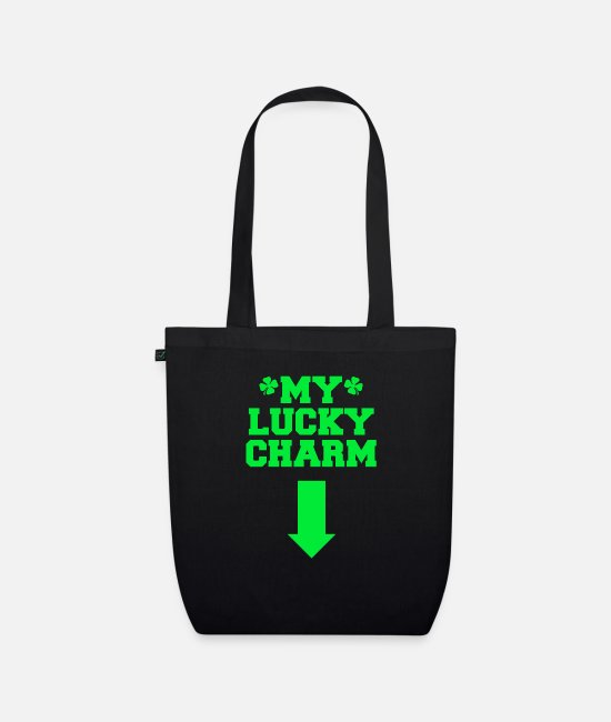 St Patricks Day Bags & Backpacks - My Lucky Charm - Organic Tote Bag black