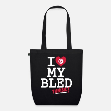 Tunisie I love MY BLED Tunisie - Organic Tote Bag