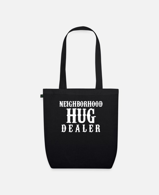 Parody Bags & Backpacks - Neighborhood Hug - Organic Tote Bag black