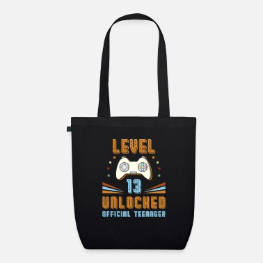 Officialbrands Official Teenager 13th Birthday Level 13 Unlocked - Organic Tote Bag
