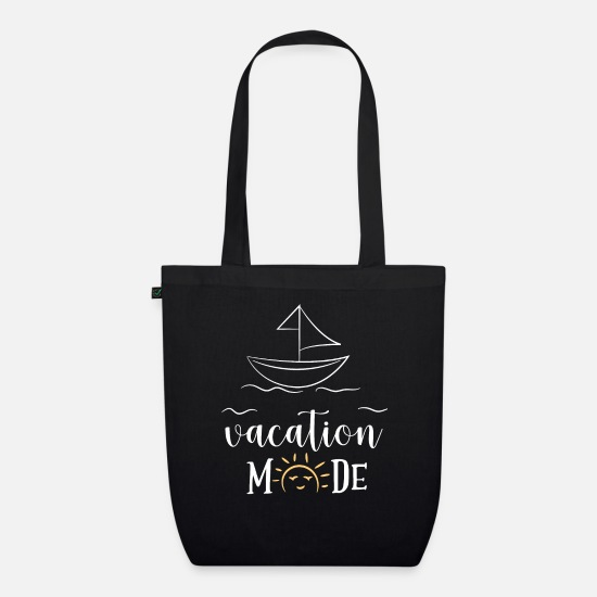 Cruise Ship Bags & Backpacks - Cruise - Cruise - Cruise - Holiday - Organic Tote Bag black