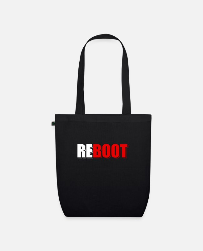 Computers Bags & Backpacks - computer - Organic Tote Bag black