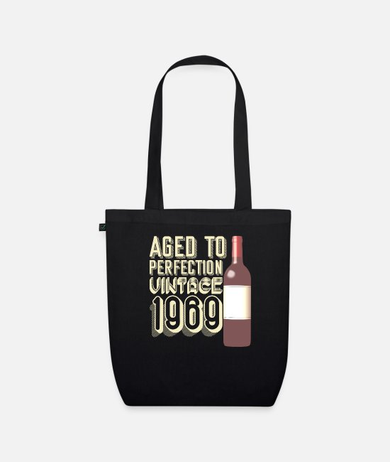 Fifty Bags & Backpacks - Birthday present for the 50th birthday - Organic Tote Bag black