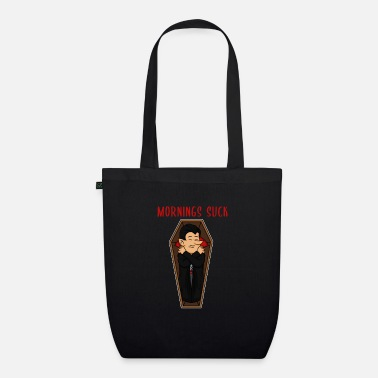 Grumpy In The Morning Vampire morning grumpy grumpy tired monday gift - Organic Tote Bag