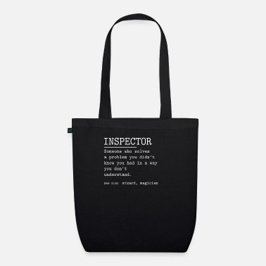 Police Inspector INSPECTOR - Organic Tote Bag