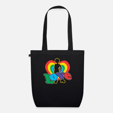 Motown Love | Colorful Heart | Afro Hairstyle | 70's retro - Organic Tote Bag