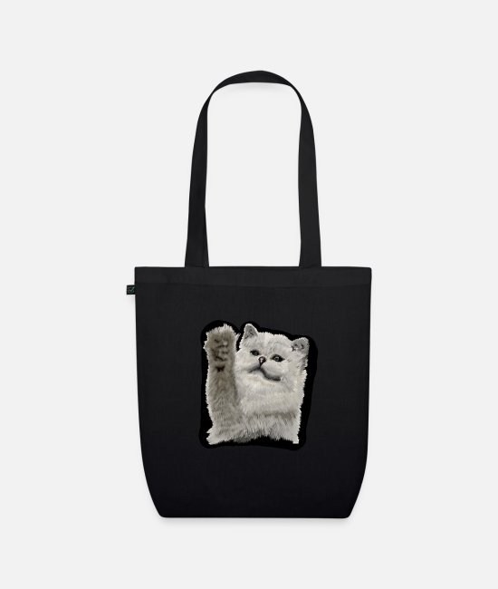 Animal Lover Bags & Backpacks - Cute baby cat as a gift - Organic Tote Bag black