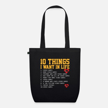 Computer Game 10 gamer commandments - Organic Tote Bag