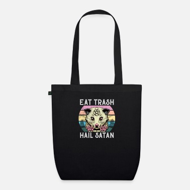 Antichrist Eat Trash Hail Satan Pentagram Vintage Occult 666 - Organic Tote Bag