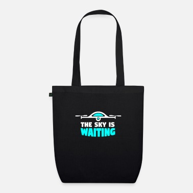 Model Sky is waiting - drone, quadrocopter - Organic Tote Bag