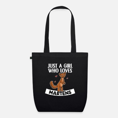 Animal Lover Just A Girl Who Loves Martens Cute Marten Costume - Organic Tote Bag