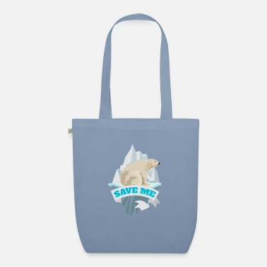 Strike Save me polar bear climate change Fridays for future - Organic Tote Bag