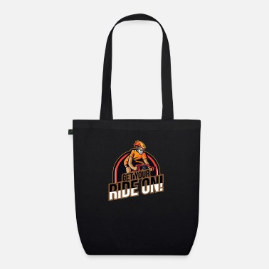 Downhill Get your ride on - downhill mountain - Organic Tote Bag