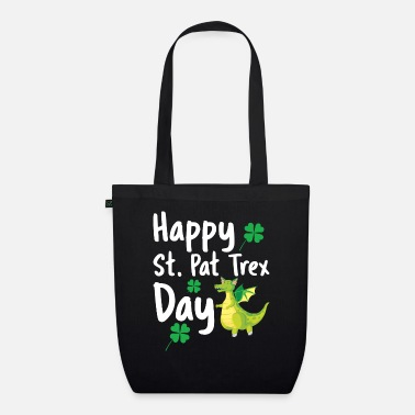 Easter Happy St Pat Trex Day Funny Saint Patrick's Day Di - Organic Tote Bag