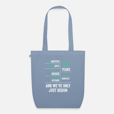 Vintage 92 Years And We've Only Just Begun Funny Birthday - Organic Tote Bag