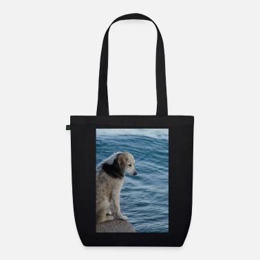 Dog on the Greek shore - Organic Tote Bag