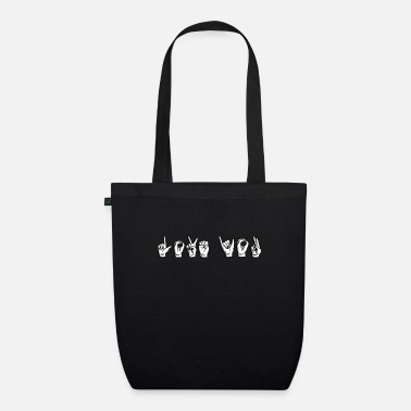 Sign Sign Language Love Love You - Organic Tote Bag