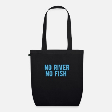Cards POKER : no river no fish - Bio Stoffbeutel