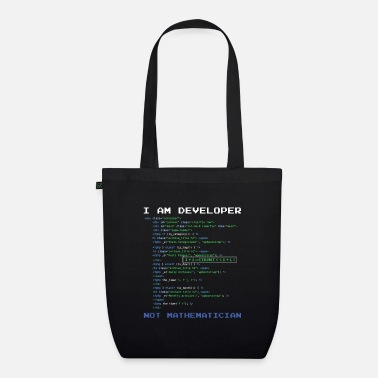 I am a developer - Organic Tote Bag