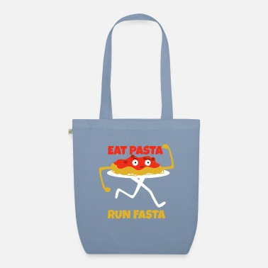 Hunger Pasta Noodles - Eat Pasta to run Fasta - Organic Tote Bag