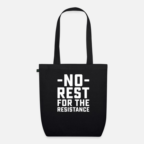 Birthday Bags & Backpacks - No Rest - Organic Tote Bag black