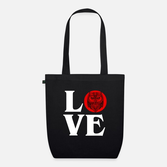 Bird Bags & Backpacks - Owl Love Nocturnal Birds Lover Predator Bird Cool - Organic Tote Bag black