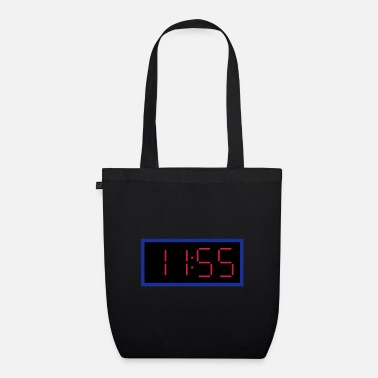 11 55 Digital clock 11:55 clock - Organic Tote Bag