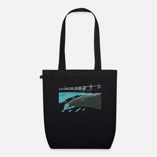 Shark Bags & Backpacks - Nurse shark gift idea - Organic Tote Bag black