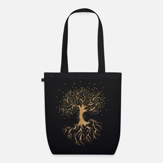 Illustration Bags & Backpacks - In Pieces - Organic Tote Bag black
