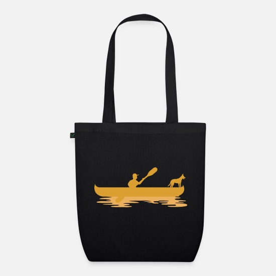 Canoe Bags & Backpacks - canoe - Organic Tote Bag black