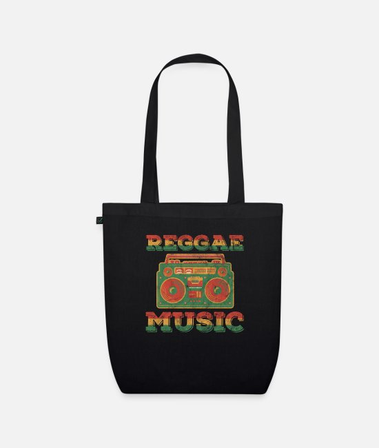 Rasta Bags & Backpacks - Reggae Rasta Rastafarian reggae music gift - Organic Tote Bag black