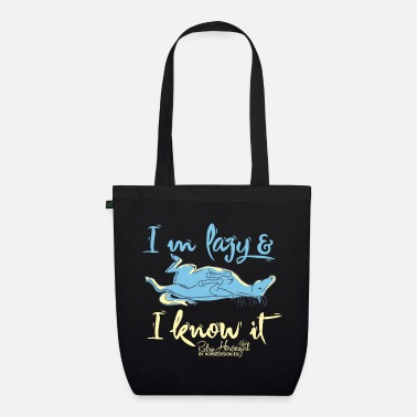 Lazy know it horse cartoon - Organic Tote Bag