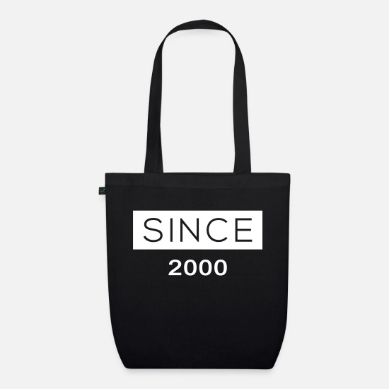 Birthday Bags & Backpacks - Since - 2000 - Organic Tote Bag black