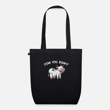 How You Doing Cow You Doin How Doing Funny Vintage Farmer - Økologisk mulepose