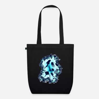 Underwater in the sea with sea life for divers - Organic Tote Bag