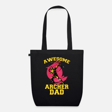 Awesome dad with bow and arrow sport father's day - Organic Tote Bag