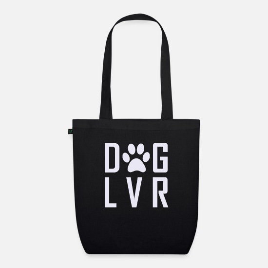 Love Bags & Backpacks - Dog lover - Organic Tote Bag black