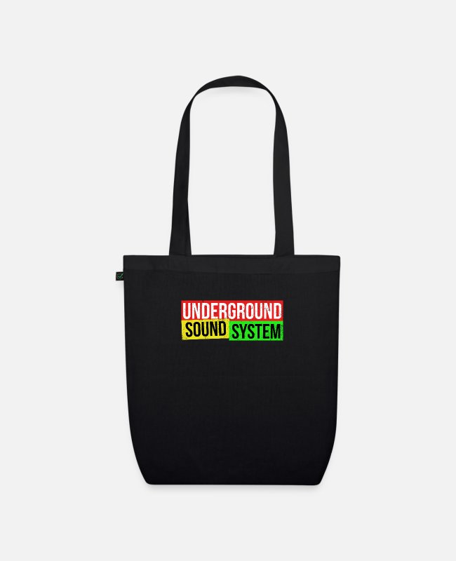 Dancehall Bags & Backpacks - UNDERGROUND SOUND SYSTEM - Organic Tote Bag black