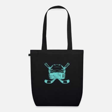Ice Hockey Helmet Hockey helmet ice hockey - Organic Tote Bag