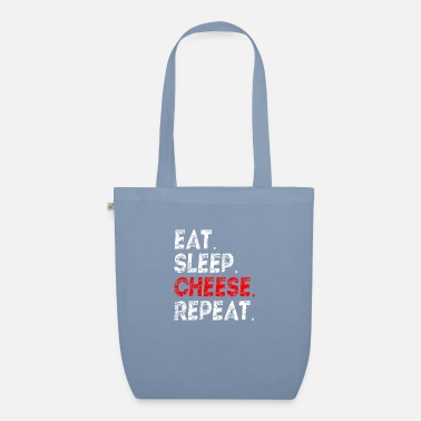 eat sleep cheese repeat cheese lover gift idea - Organic Tote Bag