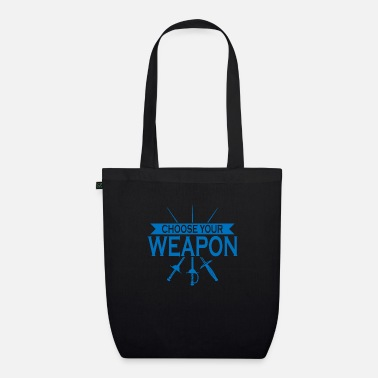 Sporty Weapon gift fencer sport fencing - Organic Tote Bag