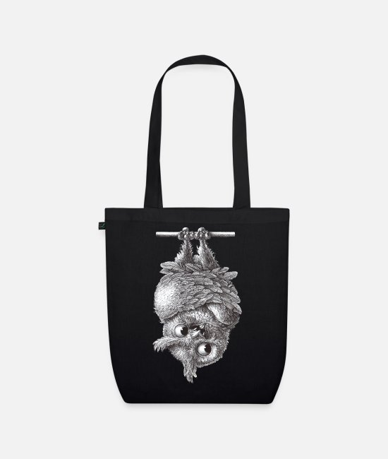 Bats Bags & Backpacks - Vampire - Dracula Owl - Organic Tote Bag black