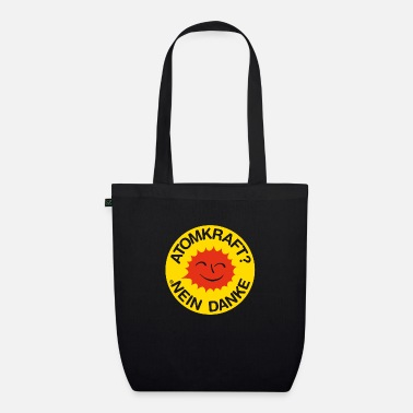 Nuclear Nuclear power? No thank you! Logo smiling sun - Organic Tote Bag